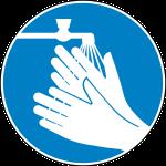 vor der Weinherstellung Hände waschen